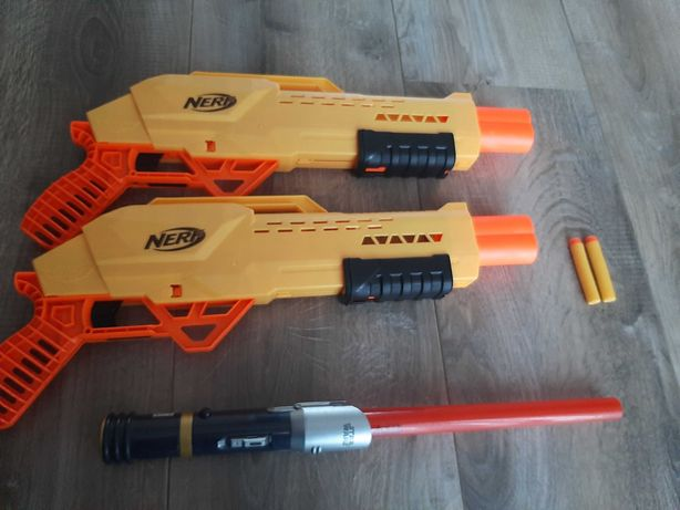 Nerf 2 pistolety naboje i miecz star wars