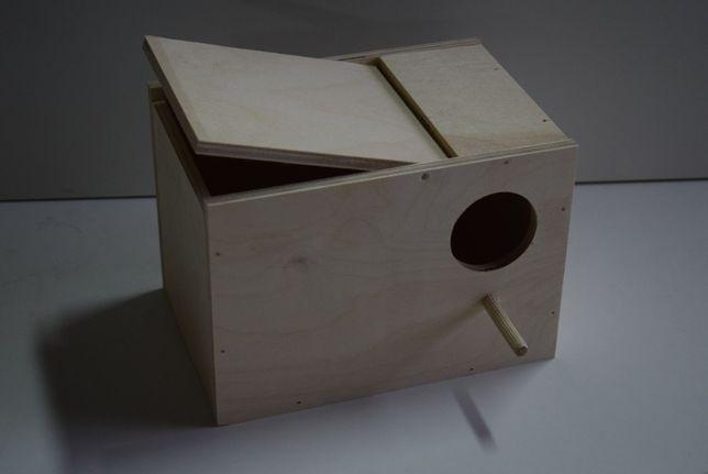 Budki lęgowe dla papug - falista nimfa aleksandretta rozella barabanda