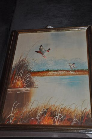 Продам нарисованную картину маслом в деревянной рамке