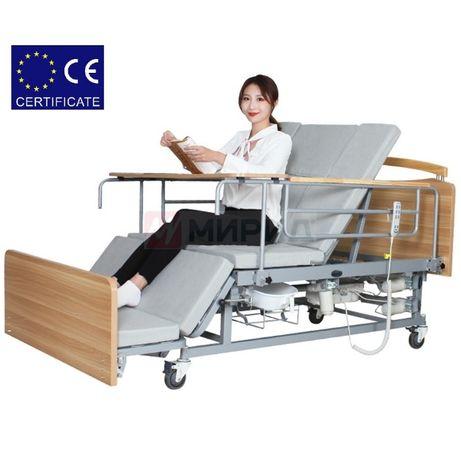 Медицинская электро кровать с туалетом Е04. Функциональная кровать.