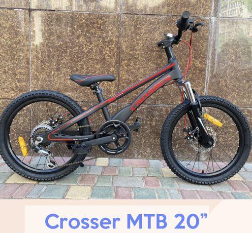 Детский спортивный велосипед 20 дюймов Crosser mTB магниевая рама