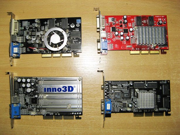 Видеокарты AGP Radeon GeForce