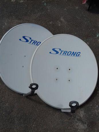 дві антени супутникові 0.9
