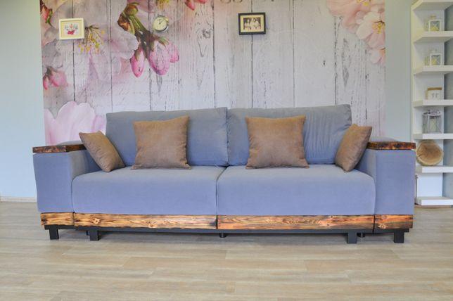 Sofa industrialna funkcja spania od ręki loft
