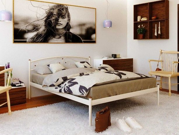 Кровать металлическая 160х200+ матрас 160х200 + доставка.