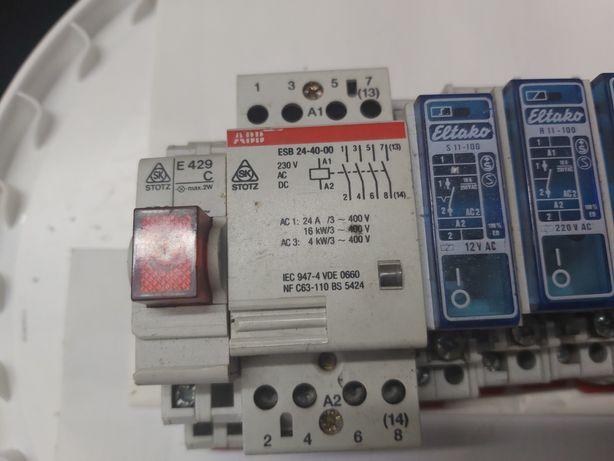 ABB stycznik  ESB 24-40 i przekaźnik Eltako