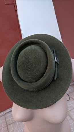 Шляпа женская. Женская шляпа натуральная шерсть