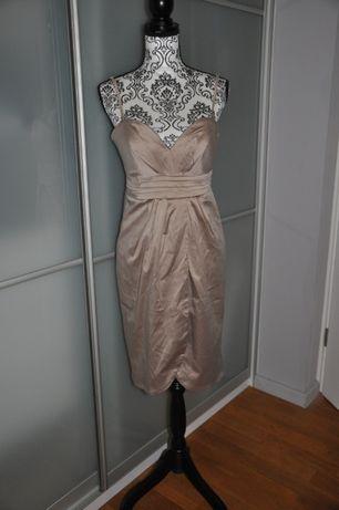 Elegancka sukienka biszkoptowa