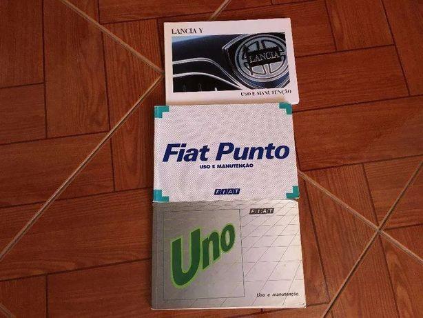 Fiat Uno / Fiat Punto / Lancia Y - Livros / Manuais Originais