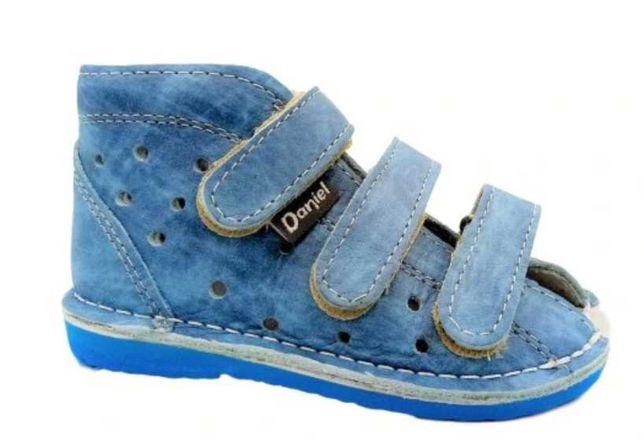 Buty buciki profilaktyczne Daniel Danielki 22 skóra licowa kolor jeans