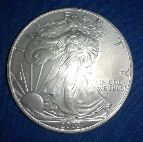 Moeda de 1 Dólar 2003 em Prata dos EUA