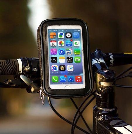 Etui uchwyt pokrowiec na telefon GPS na kierownicę roweru WODOODPORNY