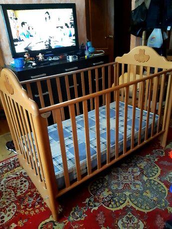 Детская кроватка дерево (ольха)