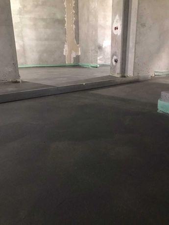 Напівсуха стяжка машинним методом, стяжка підлоги , рівна підлога
