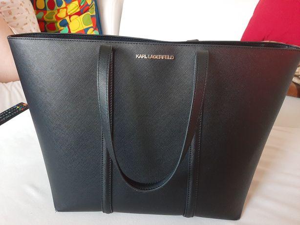 Czarna torebka Karl Lagerfeld shopper