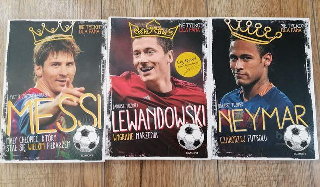 Lewandowski, Neymar, Messi - zestaw książek biograficznych dla dzieci