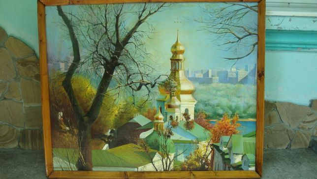 """Картина """"Киев Кресто-воздвиженская церковь на Подоле"""""""