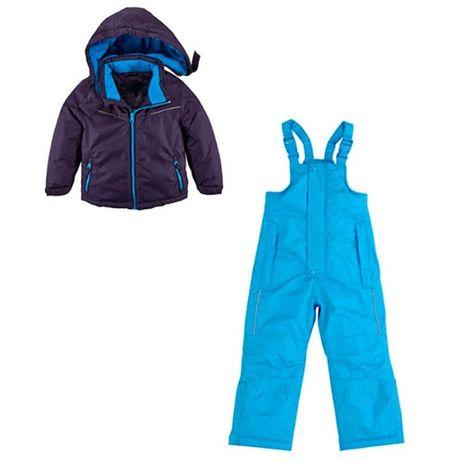 Зимний теплый костюм на мальчика комбинезон и куртка