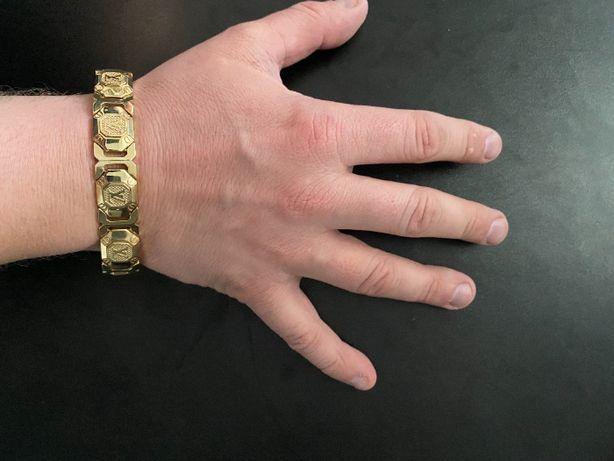 Nowa Złota Męska bransoletka Louis Vuitton 92,5 g / 585 pr / 14k