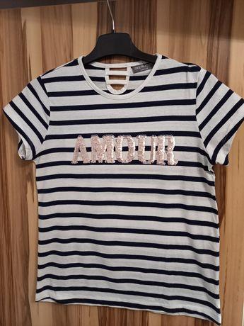 Koszulka dziewczęca w paski 158-164 cm