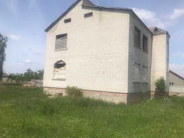 земельна ділянка с. Тишковичі незавершене будівництво земля будинок