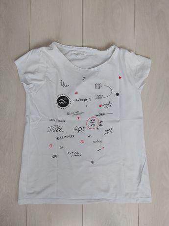 Damski biały t-shirt - Reserved (rozmiar M)