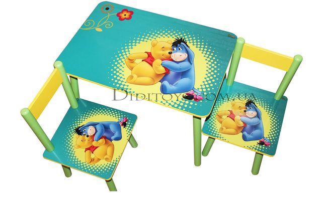 Дитячий набір столик та стільчик Вупі для 1-7 років. Вибір