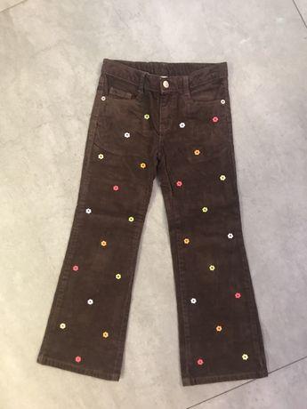 Sztruksowe spodnie dla dziewczynki amerykańskiej firmy GYMBOREE