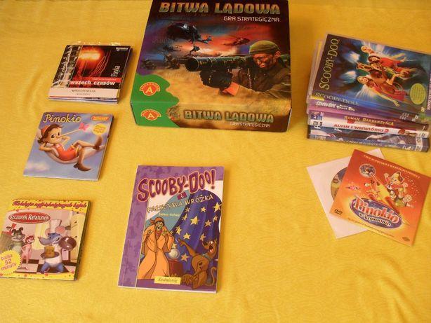 Zestaw filmów DVD, bajek, gier dla dzieci (Scooby-Doo)