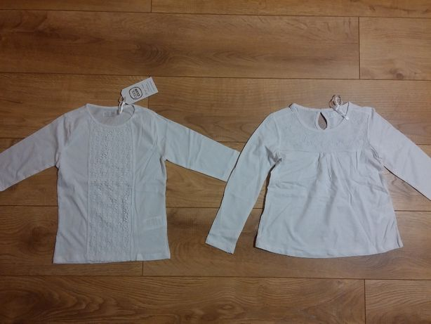 nowa Smyk elegancka bluzka koszulka koronka dla dziewczynki rozm. 122