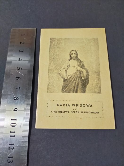 Karta Wpisowa do Apostolstwa Serca Jezusowego stan kolekcjonerski Bodzentyn - image 1