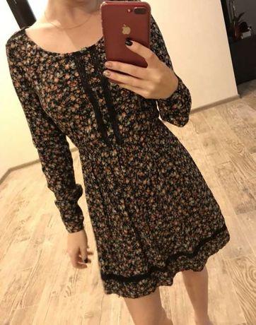 Платье цветочный принт, размер XS-S