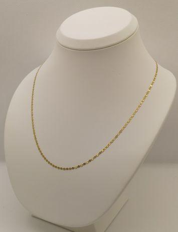 Piękny nowy łańcuszek. Super splot. Żółte złoto 14k/585. 45cm