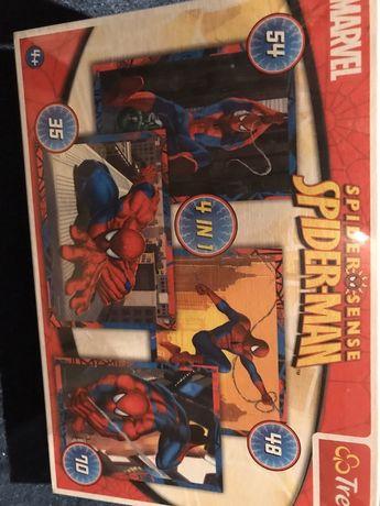 Puzzle Spiderman, 4 w 1 nowe zafoliowane Trefl
