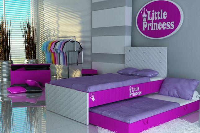 Łóżko piętrowe-wysuwane dla dzieci,dziecięce+materace,KRYSZTAŁY,2osobo