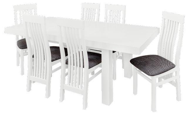 Komplet pokojowy Stół pokojowy rozkładany + krzesła drewniane pokojowe