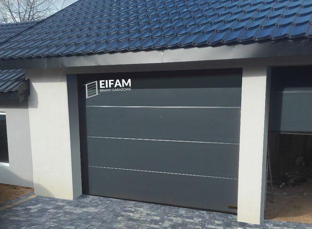 Brama garażowa segmentowa 2500x2125 antracyt z GWARANCJĄ