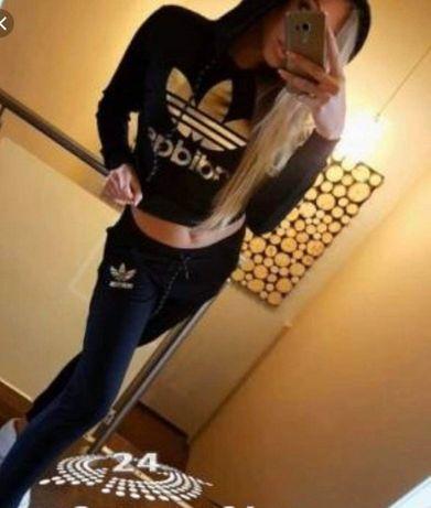 Dres damski z logo Adidas czarno złoty S-XXL!!!