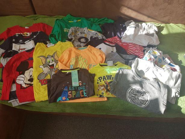 Mega paka koszulek chłopiecych r.98-110