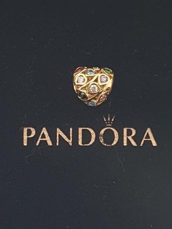 Złoty element charms na bransoletkę Pandora 14k.Nowy (239)