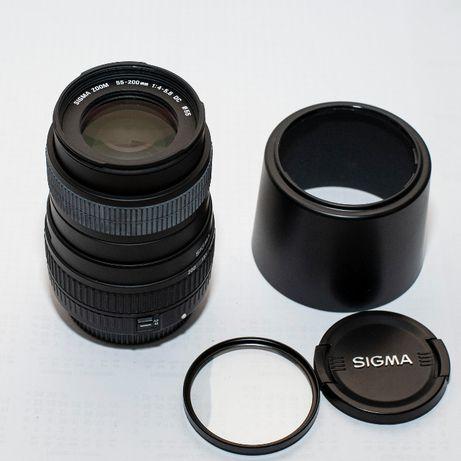obiektyw Sigma 55-200 mm do Canona zoom