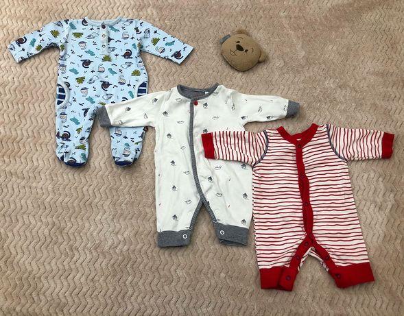 Набор фирменных человечков на малыша 0-3 месяца.