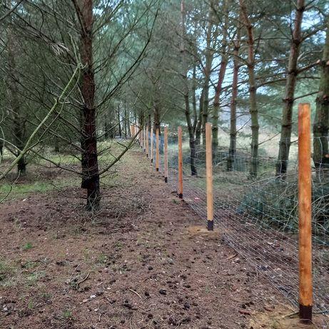 Ogrodzenie z siatki leśnej,ogrodzenie budowlane siatka lesna 15zł/mb