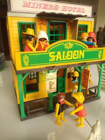 Unikat Stara zabawka z 1976r Playmobil Dom Saloon stare figurki