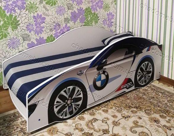Ліжко машина з механізмом матрасом кровать машина БМВ кроватка 80х170