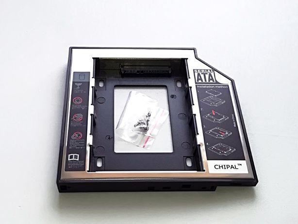 Adaptador caddy DVD para disco SATA portátil
