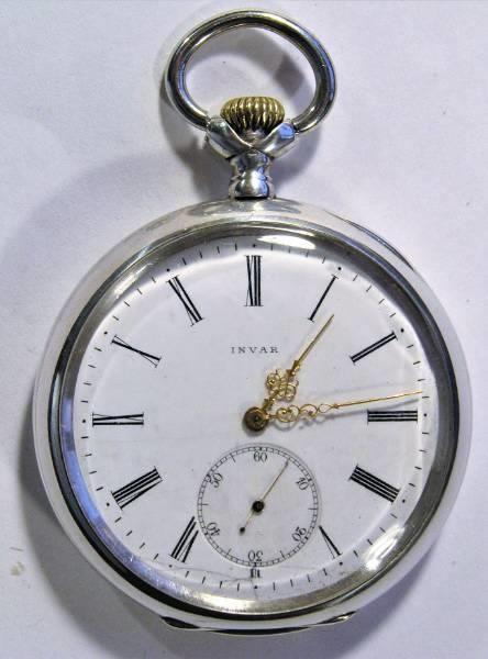 Zegarek kieszonkowy srebra 0,800 INVAR z łańcuszkiem Kłobuck - image 1