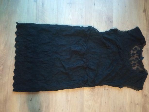 Czarna koronkowa sukienka ciążowa H&M rozm. M