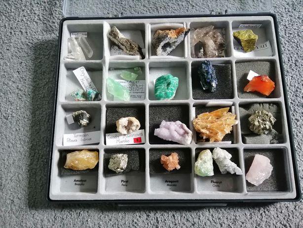 Kolekcja minerałów kwarc, piryt, geody, kryształ górski