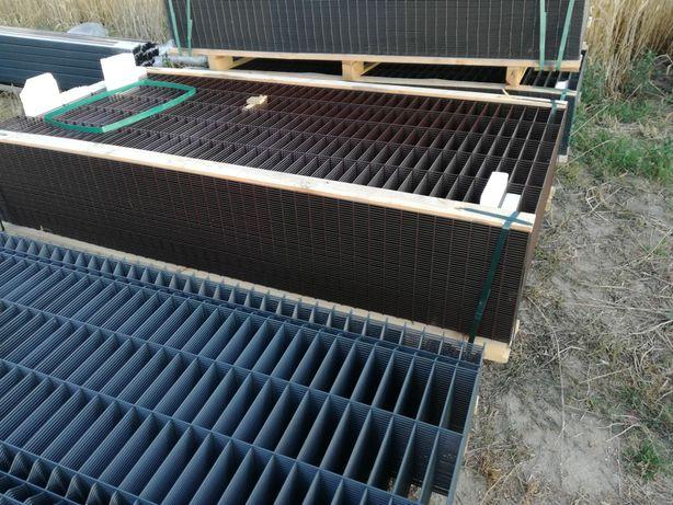 Ogrodzenia panelowe+podmurówka H-1.33cm Fi 5mm Kolor kompletny zestaw